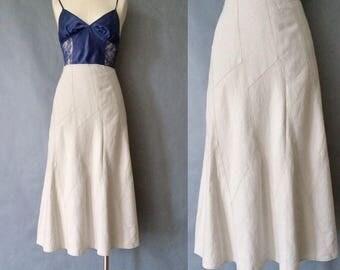 20% off using coupon! Vintage linen maxi midi skirt size M