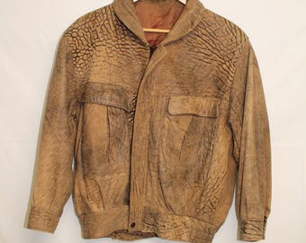 Vintage - 80's - ROGER DAVID - Men's lamb skin leather jacket - SMALL