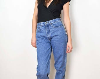 Vintage 90s jeans, 90s mom jeans, size 31-32, high waisted jeans, boyfriend jeans, denim, blue jeans, high waist women jeans, 90s clothing