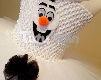 Olaf Inspired Tutu Dress, Birthday Party, Photo Prop, Halloween Costume, Snowman Dress, Snowman Tutu Dress, Frozen Inspired Costume