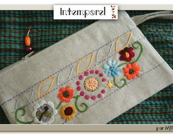"""Hand embroidered, beaded floral pattern """"Indian inspiration"""" Kit"""