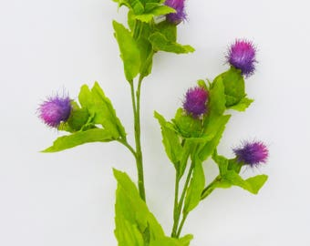 Artificial thistle flowers wild pink