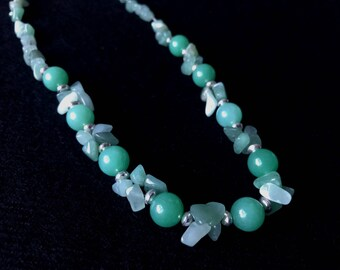 Natural Jade & Sterling Silver Necklace