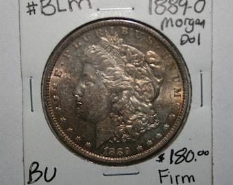 1889 O Morgan Silver Dollar Gem BU Toned Free Shipping