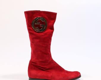 GUCCI - Chamois boots