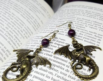 Mother of the Dragon - Daenerys - Game of thrones - dragon - agate earrings - Gothic - dragon vein - fantastic steampunk