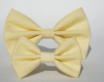 Spring yellow bow, headband