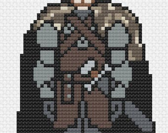 Robb Stark - Game of Thrones Cross Stitch Pattern