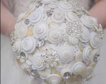 Wedding Button Bouquet