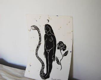 Original Art, Unique Piece, Artesanal Paper