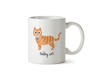 Tabby Cat Mug (orange - boy)