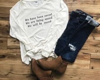 Christian Shirt, Christian t-shirt, Graphic Tee, Woman Shirt, Sunday Shirt, Church Shirt, Blessed Shirt, Bible Verse Shirt, Christian Tee