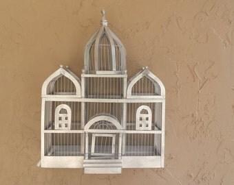 Bird Cage Palace Style, Victorian Bird House, Vintage Bird Decor,Moroccan Vintage Birdhouse, Taj Mahal Style Bird Cage,Wood & Wire Bird Cage