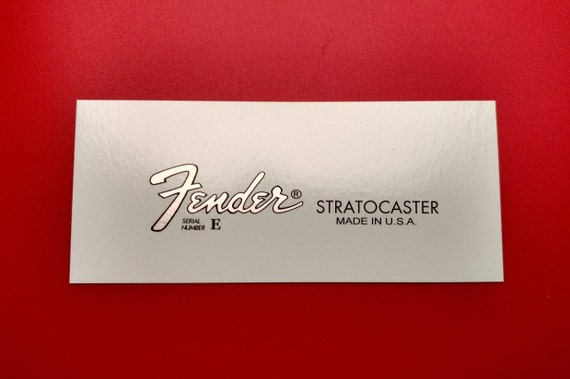 Silver Metallic 80's Fender Stratocaster Custom Waterslide, Includes Two with each order.