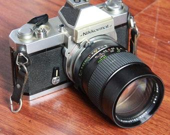 Nikon Nikkormat FT2 SLR with 135mm Portrait Lens
