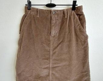 Vintage Rustic Oak Corduroy Skirt