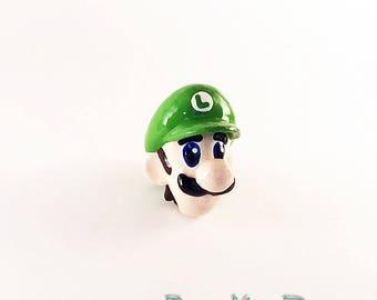 Luigi Super Mario Drawer Pull Knob Geek Home Gamer Gift Super Mario Bros Nintendo Home Decor Pull Knobs Dresser Pulls