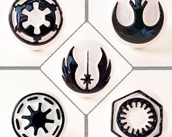 Star Wars Drawer Pulls **5 Factions Available StarWars Cabinet Knobs (Empire - Rebel Alliance - Jedi Order - Republic - First Order)