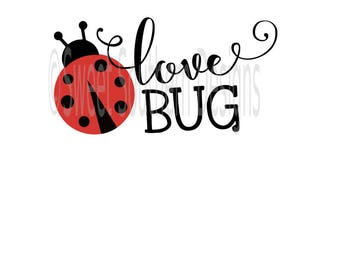 Love bug Ladybug SVG DXF PDF instant download design for cricut or silhouette