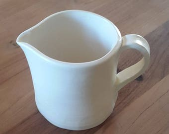 Ceramic pitcher / / Pearl White / / handmade / / handmade / / gift for MOM / / gift for grandmother / / white ceramic