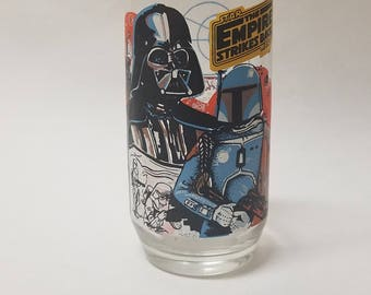 Vintage Star Wars The Empire Strikes Back Darth Vader Collectors Glass Burger King 1980
