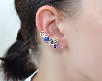 Ear Cuff Ear wrap Cartilage Earring Ear cuff pierced Fake piercing Ear climber Helix earring Silver ear cuff Girlfriend gift Ear Jacket