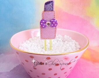 Purple Iipstick Planner Clip, Glitter VINYL Paper Clips for Planners, Planner accessories, Planner Paperclip, Makeup Planner Clips