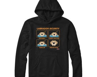 Funny Labrador Hoodie | Labrador Security | Yellow Lab