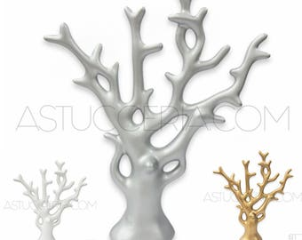 Jewellery-Necklaces Bracelets Earrings Jewelry Pendants DISPLAY Stand To Showcase Coral Tree-Resin Silver, White, Gold