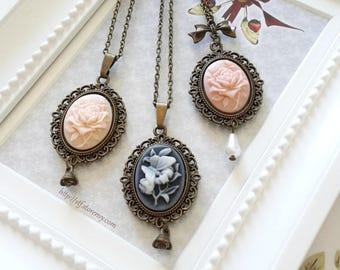 Bird & Roses Necklaces