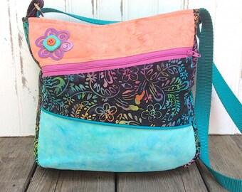 Multicolor Batik Crossbody Bag
