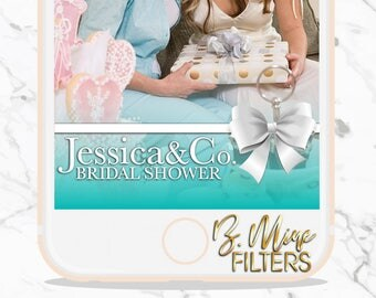 BRIDE AND CO, Snapchat Geofilter, Bridal Shower Snapchat, Birthday Snapchat Filter, Sweet 16 Snapchat Geofilter, Teal, Breakfast at Tiffanys