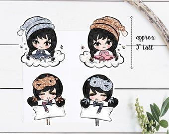 Sleepy Doll Die Cuts / Planner / Die Cuts / Cute / Dolls