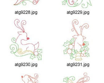 Rudolph Multiline ( 10 Machine Embroidery Designs from ATW ) XYZ17K