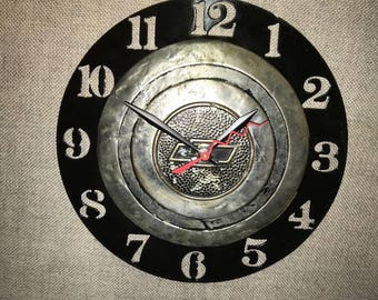 Up-cycled Vintage Chevy hubcap clock / Chevrolet / Master Deluxe