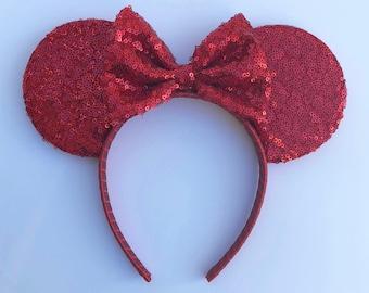 Red Sequin Ears