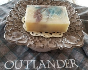 Sassenach - Outlander, Claire Fraser soap, Shea butter soap, Scottish Fantasy soap, Floral soap, Herbal soap, Hand crafted soap, Luxury soap
