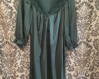Classic Vanity Fair Dark Green Housedress, 1960s