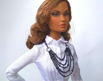 Barbie jewelery Fashion royalty jewelery collectible dolls necklace Barbie necklace, FR2 necklace, FR16 Necklace Doll jewelery, doll clothes