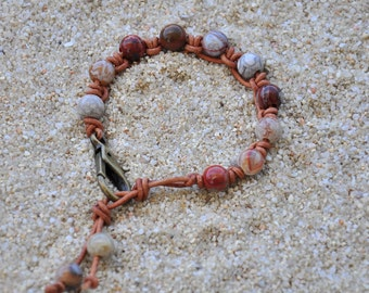 Beautiful Brown Leather Hand-Knotted Bracelet