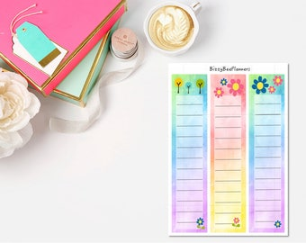 Watercolor Sidebar Checklists-ECLP-Happy Planner