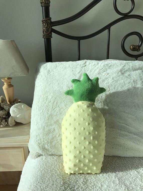 Pineapple Decor Pillow Beach Room Bedroom Dorm Nursery Pillows