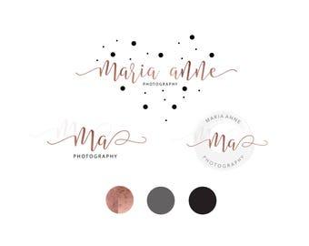 Logo Design | Photography Logo & Watermark | Logo Branding Package | Rose Gold Logo | Watercolour Logo | Calligraphy Logo | Brand Kit