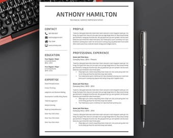 Professional Resume Template | 5 Pages Resume | Cover Letter | CV Template Word | Modern Resume Design | Instant Download Resume | ANTHONY