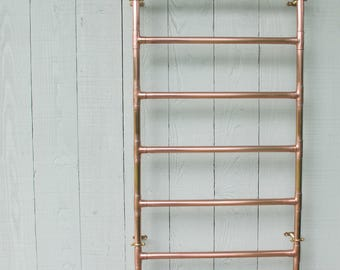 Heated Copper Towel Rail copper radiator heated copper radiator heated copper towel rail copper industrial vintage bathroom fittings