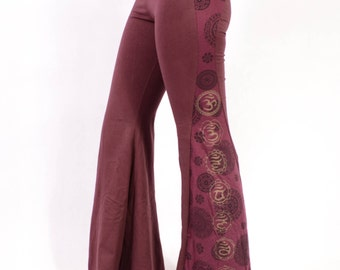 WINE CHAKRA Leggings - Yoga Pants - Psytrance Leggings - Festival Leggings - Mandala Leggings - Flow Leggings - Bell Leggings - Girls