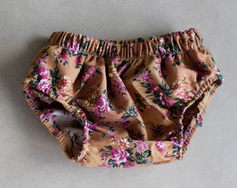 Walnut Floral Bloomers, Baby Girl Bloomers, Diaper Cover, Bloomers, Baby Bloomers, Toddler Bloomers, Bohemian, Boho Chic