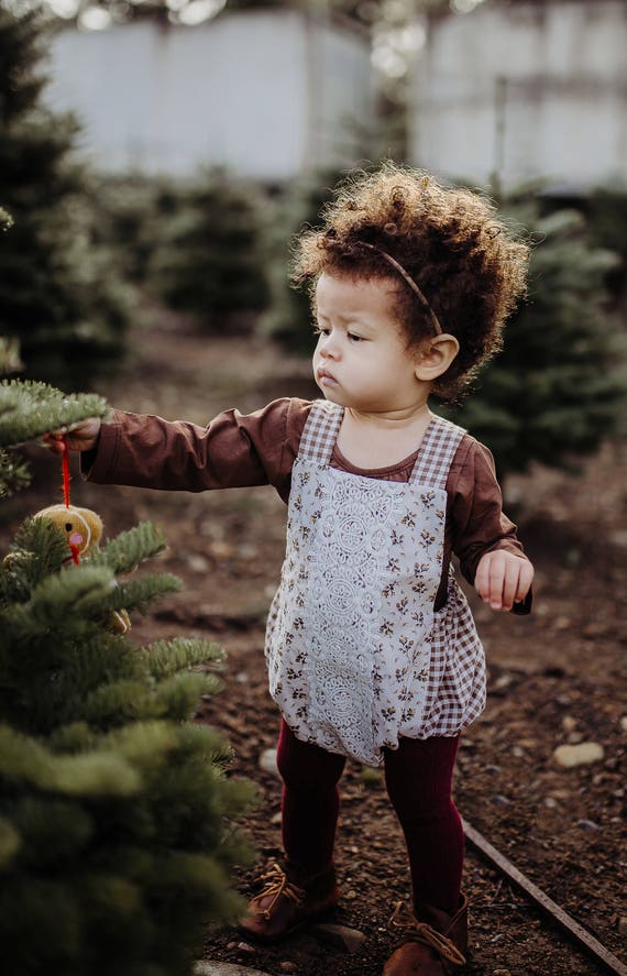 Christmas Romper, Christmas Outfit, Boho Romper, First Christmas, Toddler Winter Outfit, Bubble Romper, Boho Chic Romper, Playsuit
