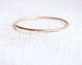 Super Skinny Stacking Rings, Gold Stacking Rings, Hammered Stacking Rings, Thin Gold Ring, Minimalist Jewelry, Minimalist Boho Ring