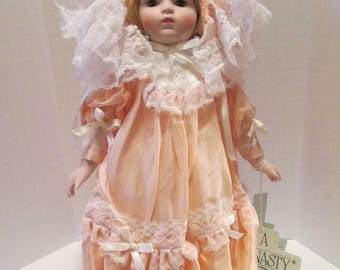 Dynasty Doll Collection Porcelain Doll - Vanessa 14 Inches